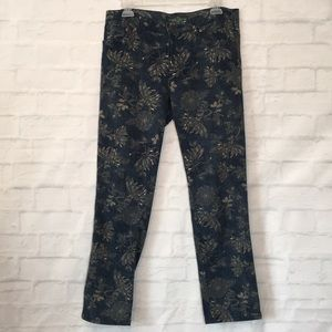 Lauren Ralph Lauren tan floral print denim pants